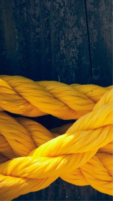 China PP Rope 3 Strands Mooring Line Supplier Yellow