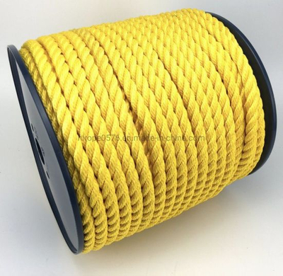 Yellow Color 3 Strand Twisted PP/PE Rope for Fishing Marine