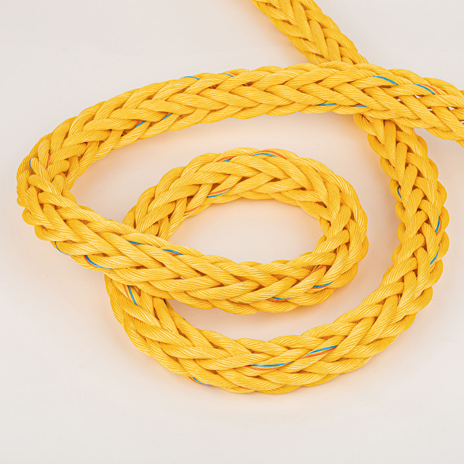 12 Strand 4 Inch 32mm Yellow Diameter PP Rope Lifting Rope