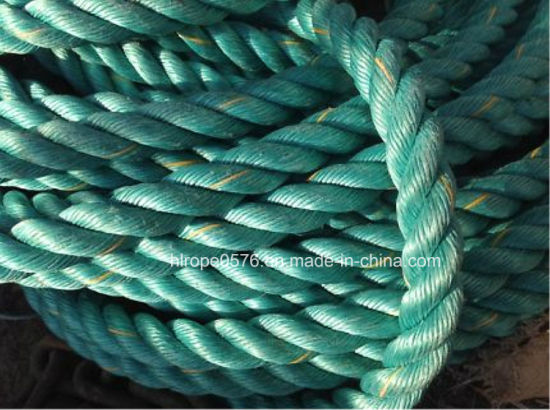 Polypropylene Rope 3-Strand Green 28mm with Mark Line