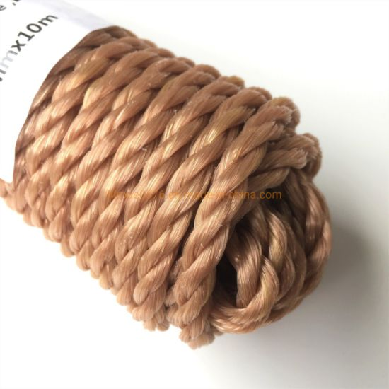 6mmx10m Beige Heavy Duty Twisted Polypropylene Rope Floating PP Rope Boat Rope Sailing Camping Secure Line Clothes Line