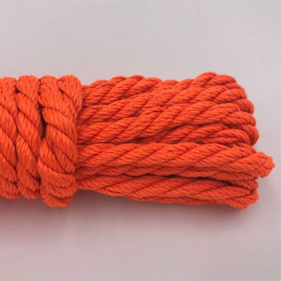 Orange Tracer 3 Strand Twisted PP/PE Rope for Philippines Market