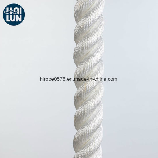 White Polypropylene Multifilament Rope for Mooring and Fishing