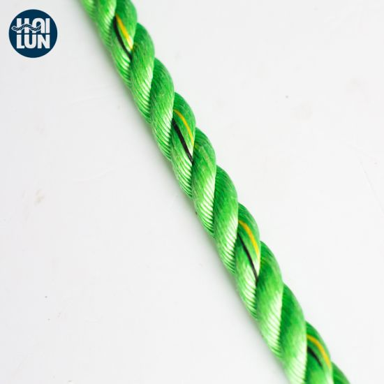Green Color 3 Strand PP Twist Rope for Shipping and Mooring