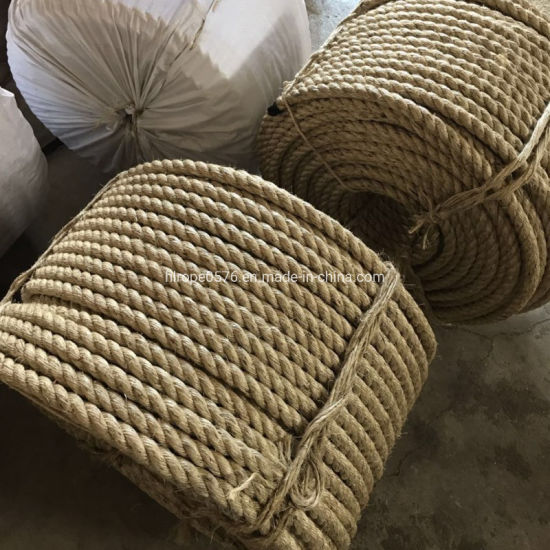 Factory Wholesale Twist 3/4 Strand Natural Color Manila/Sisal Jute Rope