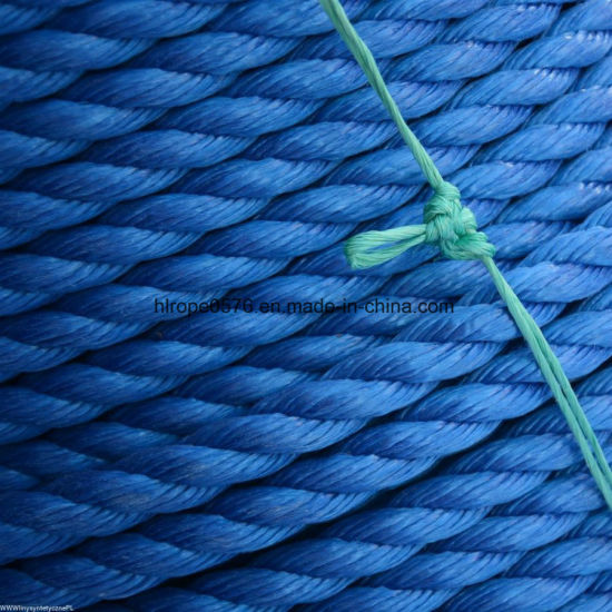 Good Quality 3strand Blue PP Rope for Mooring