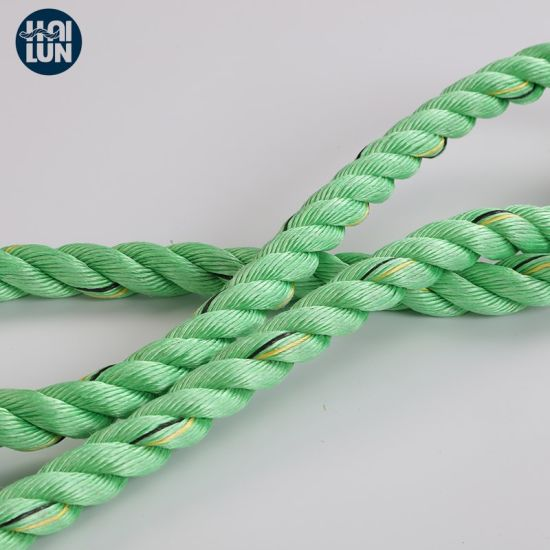 Green 3 Strand PP Danline Mooring and Fishing Rope