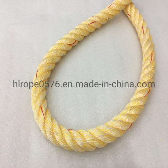 4 Strand PP and Polyester Mixed Mooring Rope