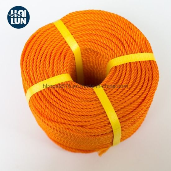 3 Strand Colorful Marine PE Rope Tiger Rope for Mooring and Marine
