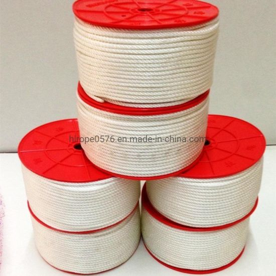 Strong and Durable White Polyester Rope for Engine Start Use