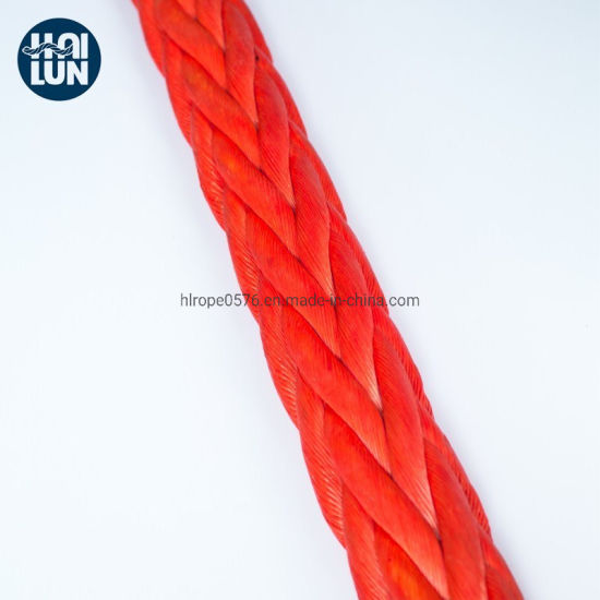12 Strand Synthetic UHMWPE/Hmpe Hmwpe Rope Winch Rope Marine Rope for Mooring Offshore