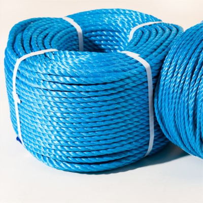 Factory Wholesale 3strand Blue PP Rope Polypropylene Rope Marine Rope for Fishing and Mooring
