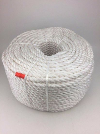White&Red 3-Strand Polypropylene Fishing Rope Marine Mooring PP Rope