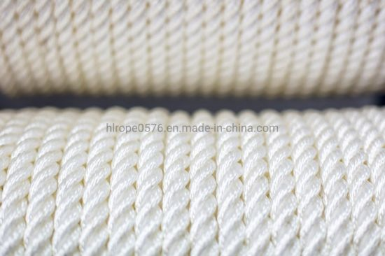 Nylon 3 Strand Twisted Rope by The Metre