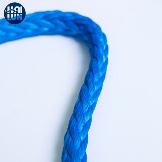 12 Strand Braided Rope Synthetic UHMWPE/Hmpe Rope Towing Rope