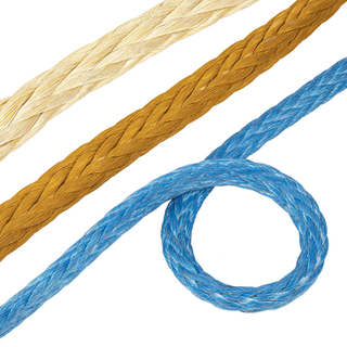 Polyester Cover 12 Strand Synthetic UHMWPE/Hmpe Hmwpe Nylon Marine Towing Rope for Mooring Offshore